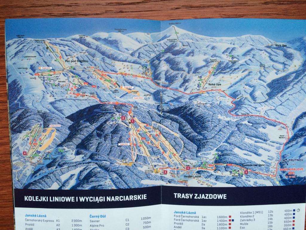 Mapa Pec pod Śnieżką