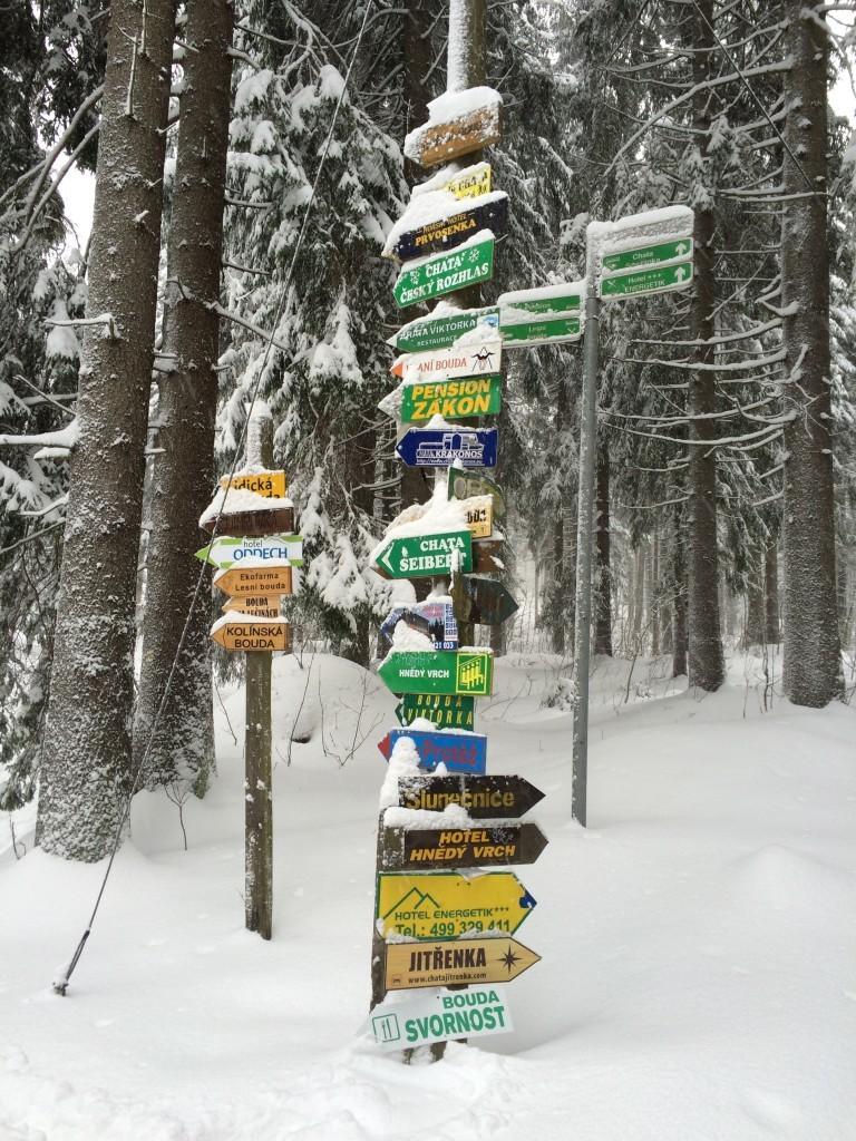 Zima w Pec pod Śnieżką