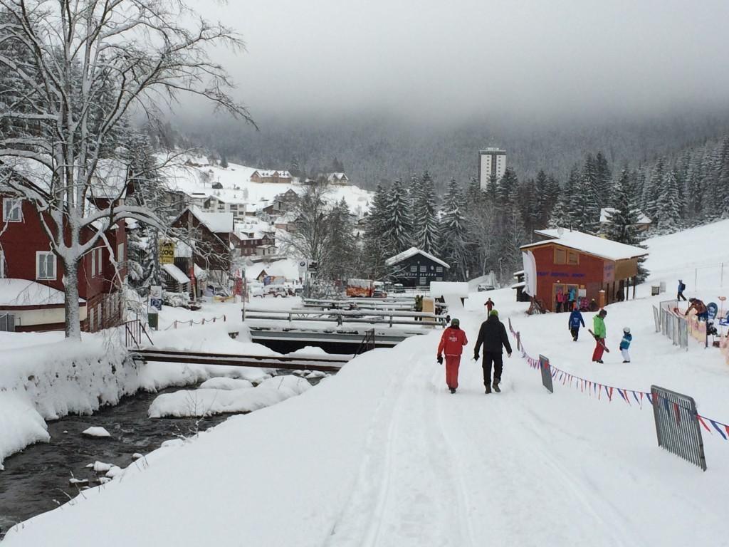 Pec pod Śnieżką w Czechach podczas zimy
