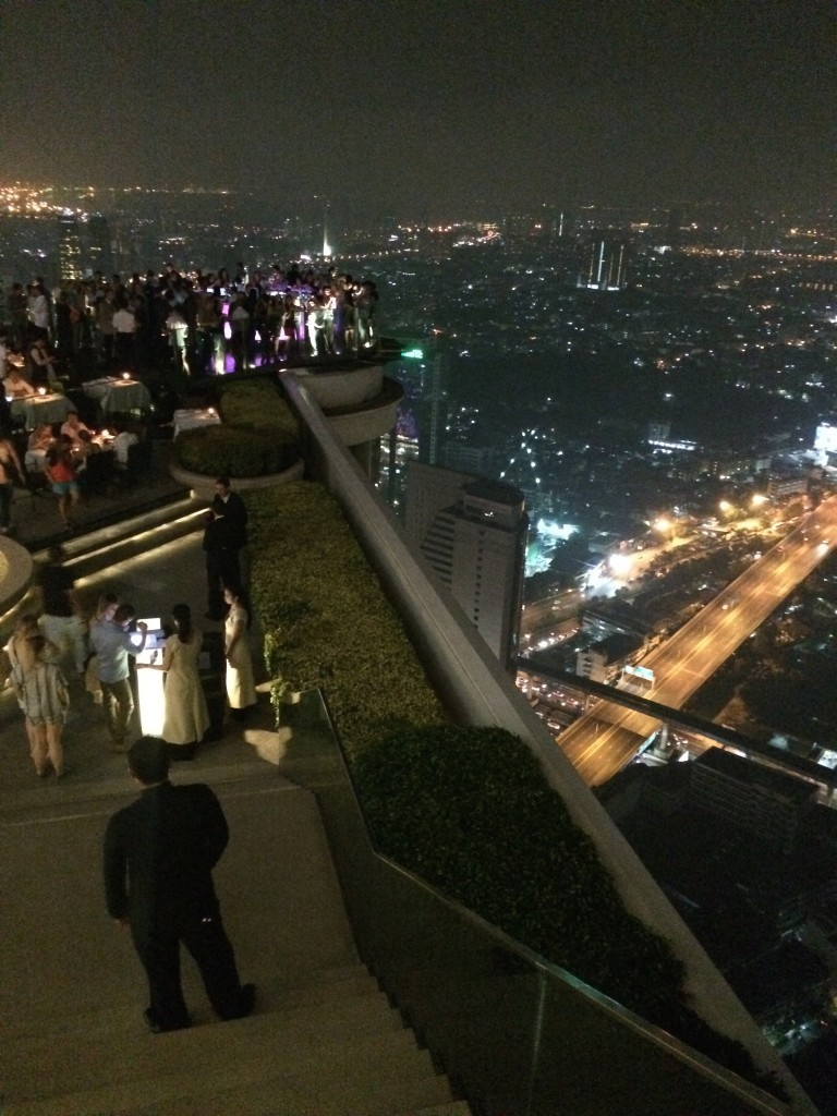 Bangkok Thailand hotel Lebua State Tower Sky Bar 64 floor