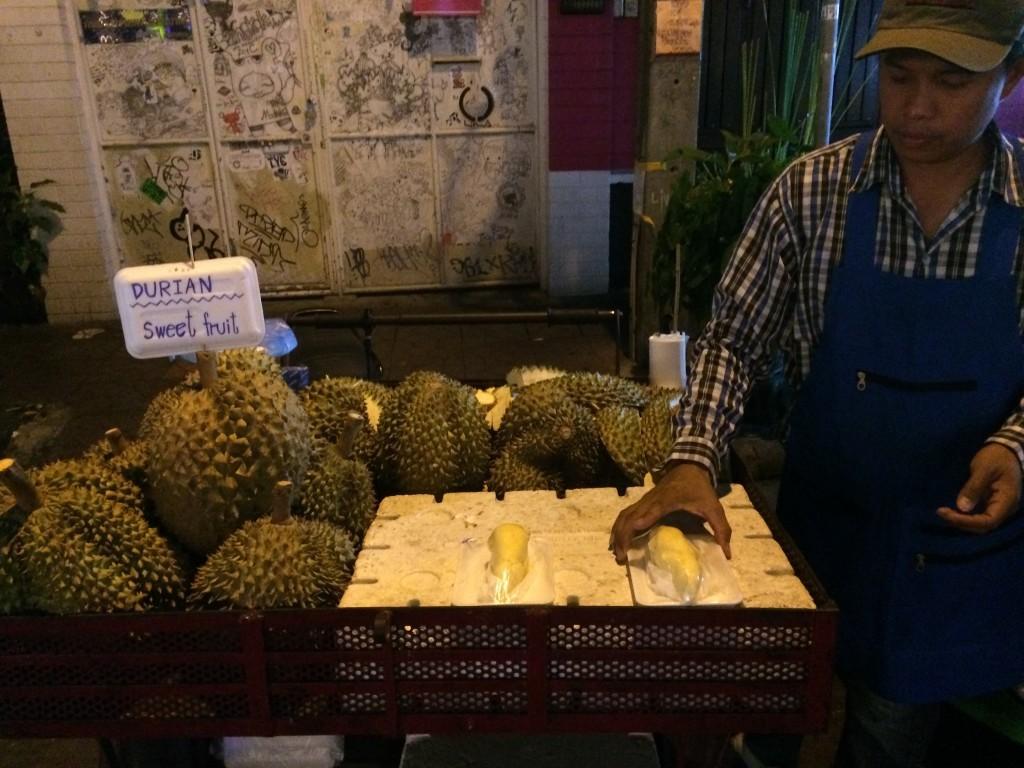 Bangkok Thailand KhaoSan Road durian
