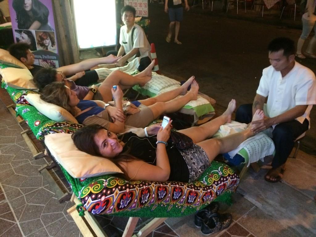 Bangkok Thailand KhaoSan Road massage