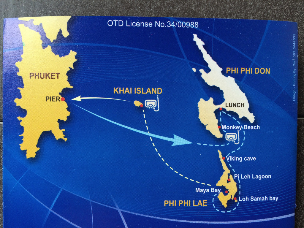 Mapa Phi Phi Island, Thailand