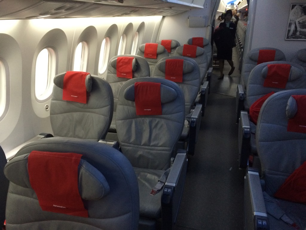 Norwegian 787 Dreamliner business class