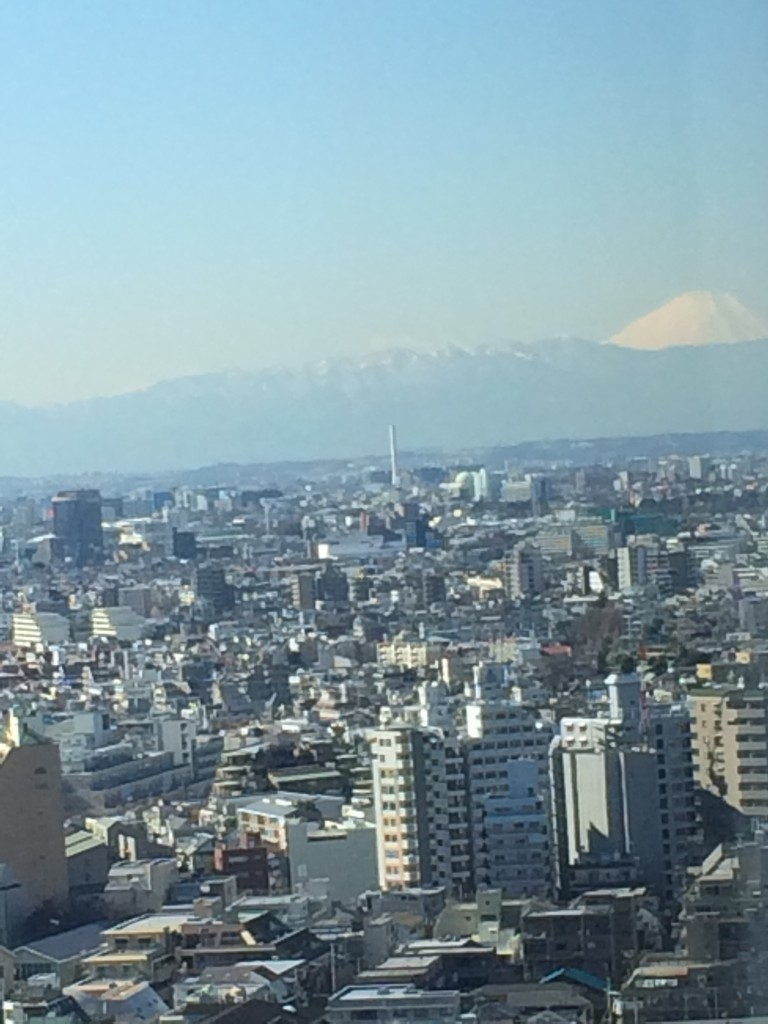 Zbliżenie na wulkan Fuji