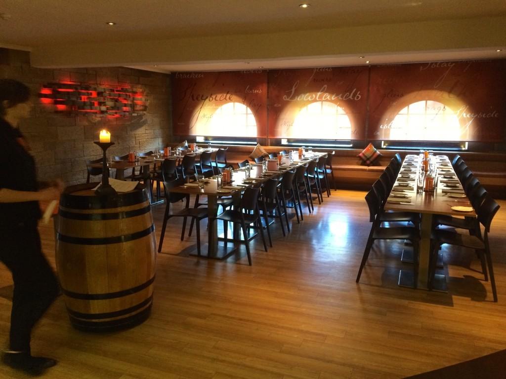 Ekskluzywny bar w muzeum szkockiej whisky, czyli Scotch Whisky Experience.
