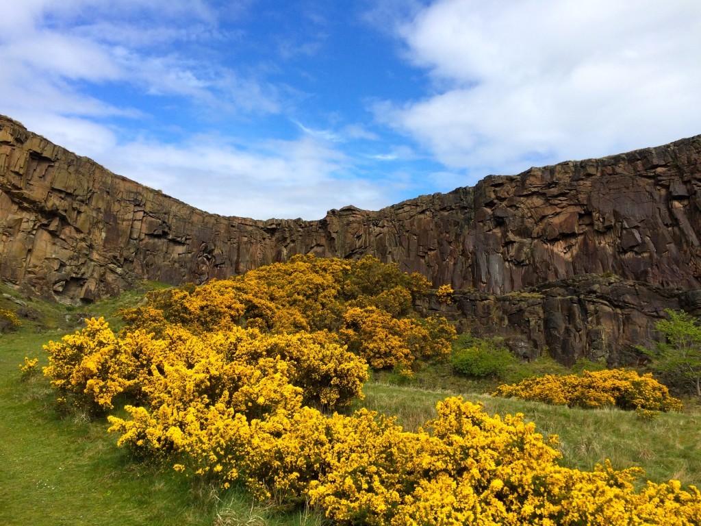 Szkocja Edynburg - Góra Artura w Holyrood Park