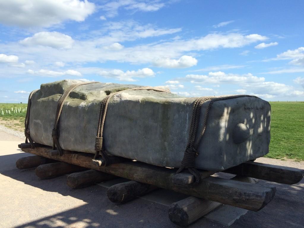 Replika 28-tonowego kamienia z którego zbudowane jest Stonehenge