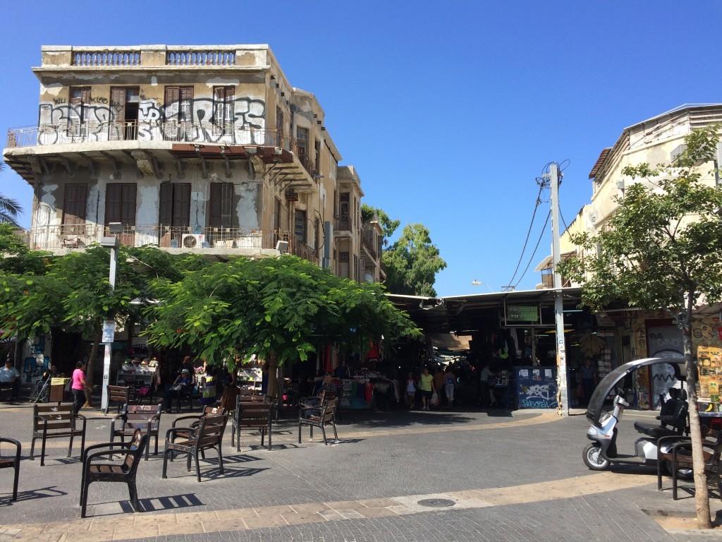 Wejście do Carmel Market od ulicy Allenby