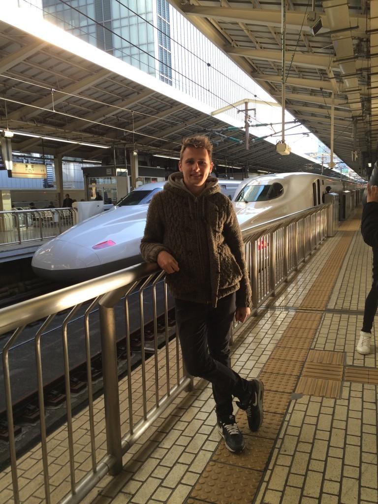 Japonia podróż pociągiem Shinkansen