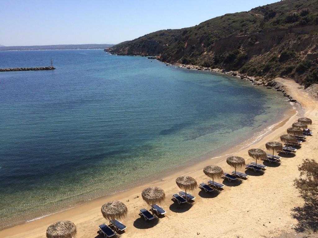 Grecja wyspa Kos plaża Limnionas