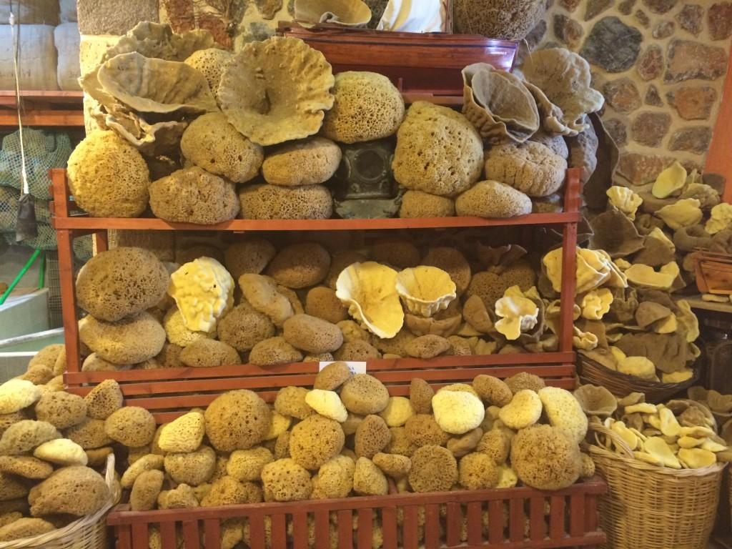 Wszędzie dużo gąbek, w cenie od najmniejszych po 5 euro do największych po nawet kilkaset euro za sztukę.