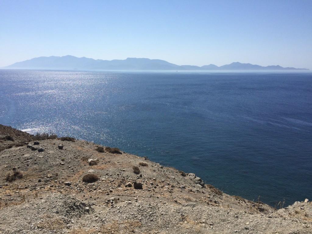 Przepiękny widok na wybrzeże Turcji w drodze do term