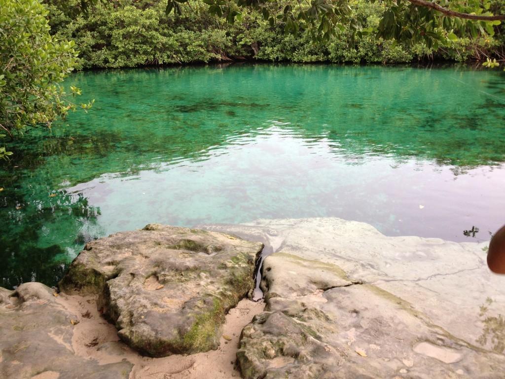 Cenoty - podwodne jaskinie do nurkowania - kolejna z atrakcji Jukatanu.