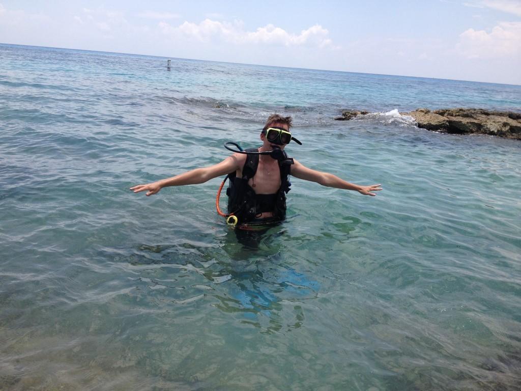 Podczas spełniania największego z marzeń z Bucket List - nurkować w rafie koralowej na głębokości 10-ciu metrów.