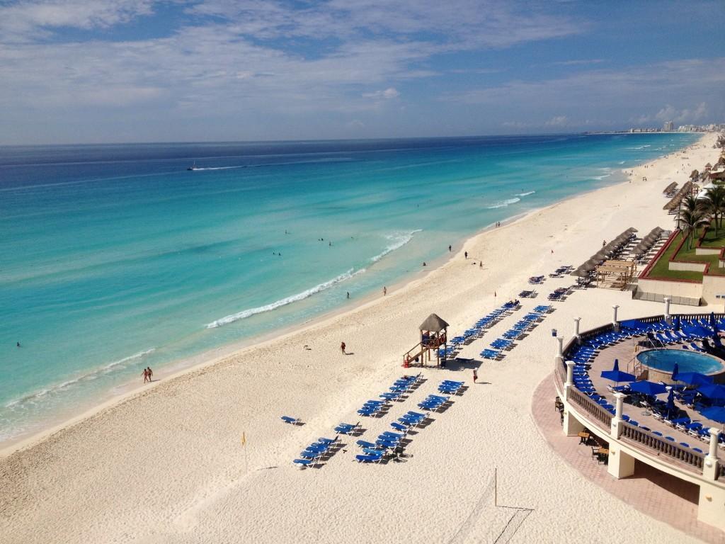 Widok z balkonu JW Marriott Cancun Resort & Spa, który wybrałem na swój rajski pobyt - polecam!