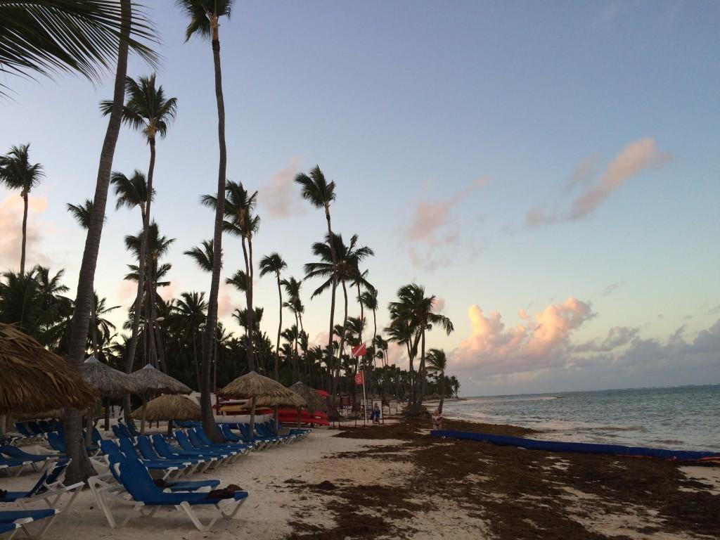 Plaża Punta Cana o zachodzie słońca