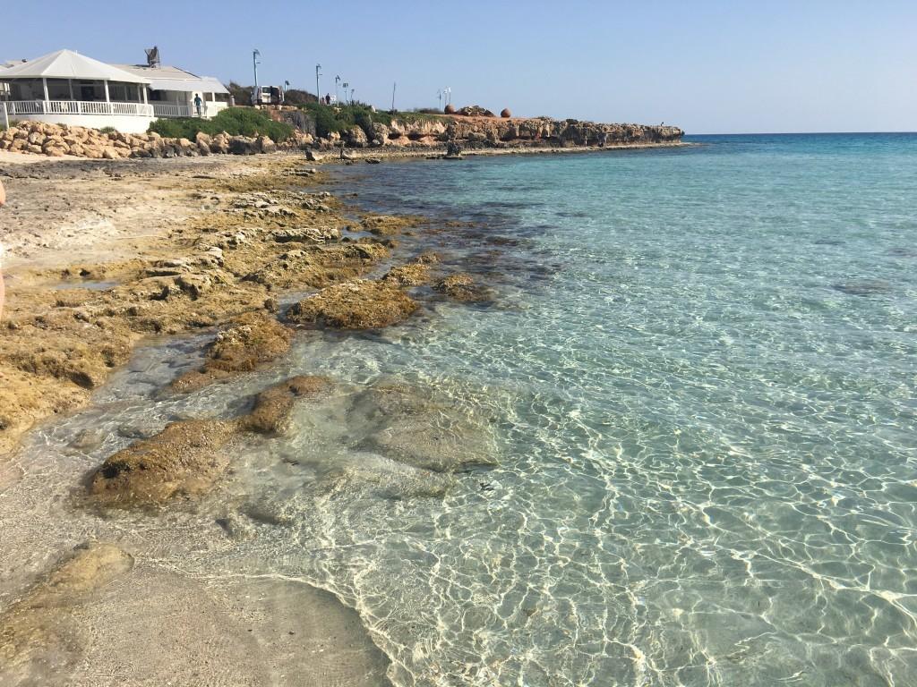Cypr Ayia Napa plaże Nissi Beach