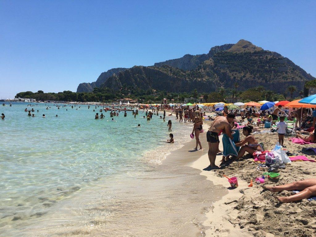 Sycylia Palermo plaża Mondello