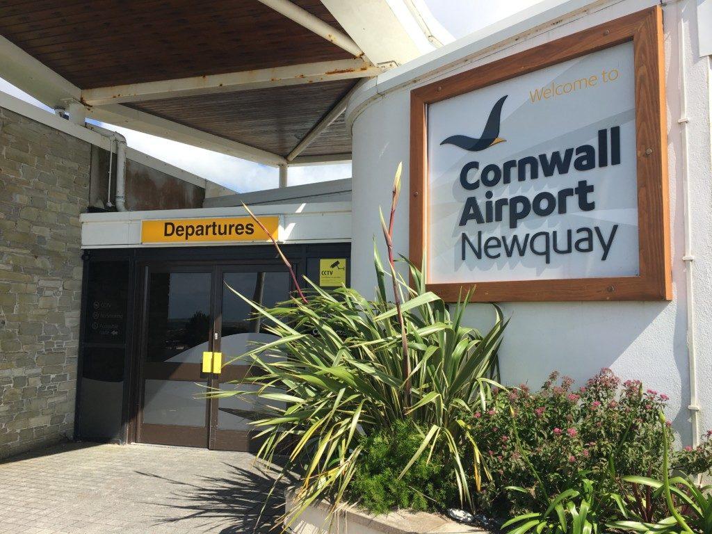 Kornwalia lotnisko Newquay Wielka Brytania