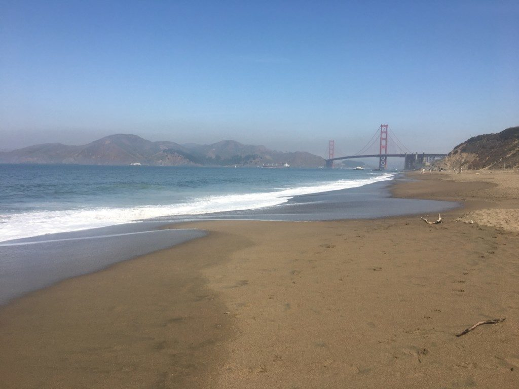 USA San Francisco plaża Baker Beach