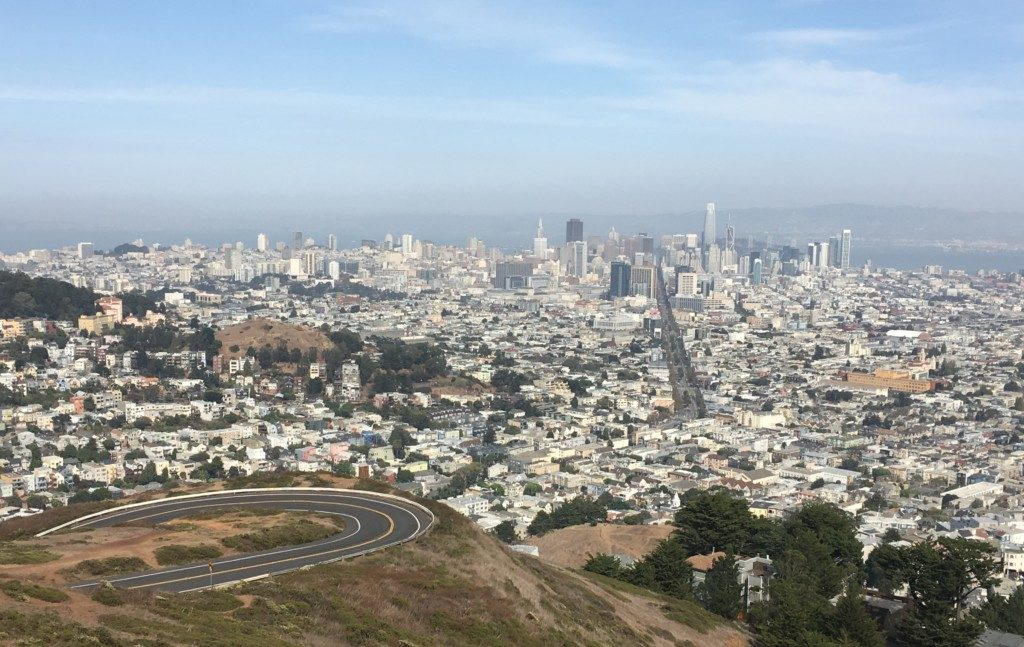 USA San Francisco wzgórza Twin Peaks