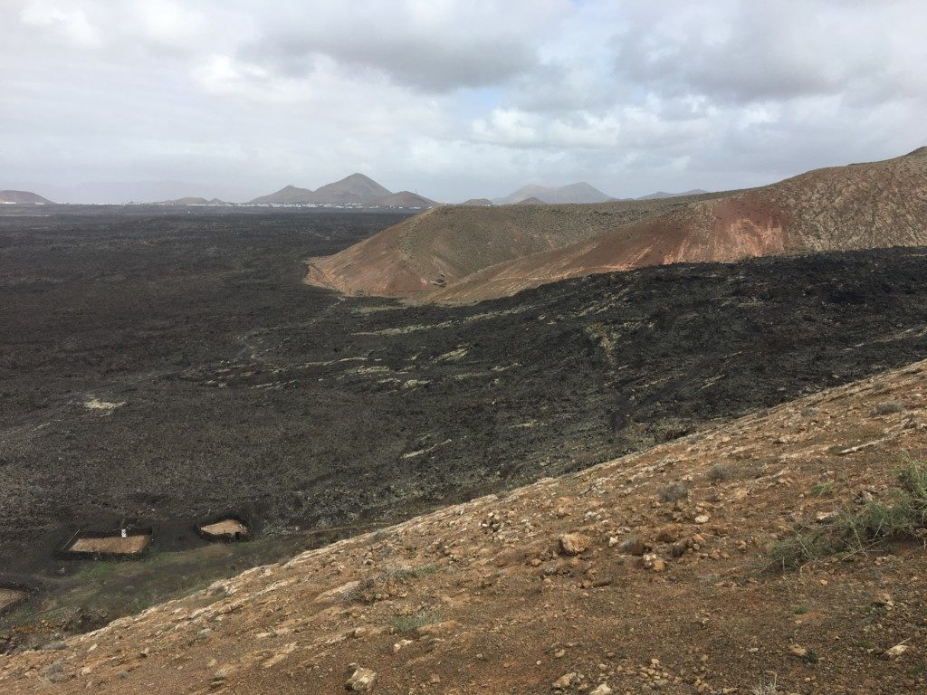 Lanzarote wulkan Caldera Blanca