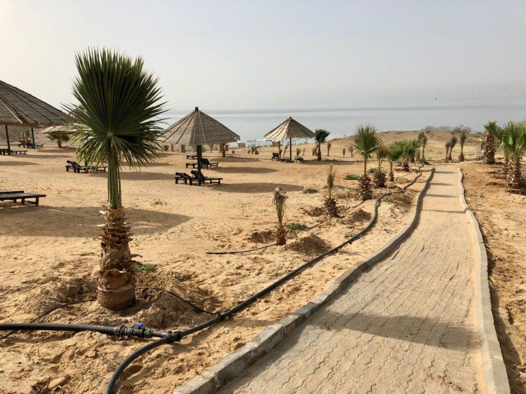 Jordania Morze Martwe plaża