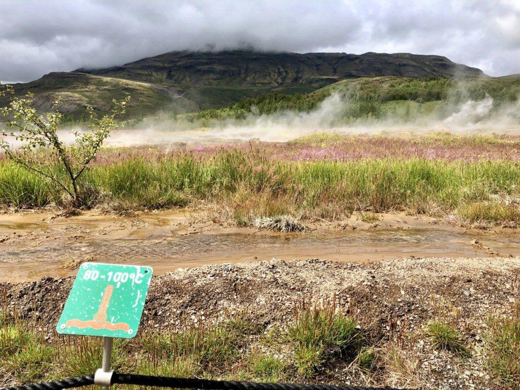 Islandia gejzer Geysir Strokkkur