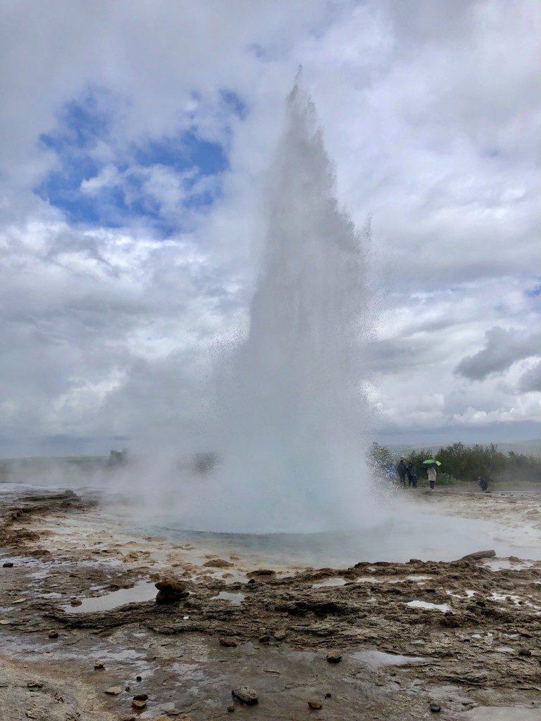 Islandia gejzer Strokkkur