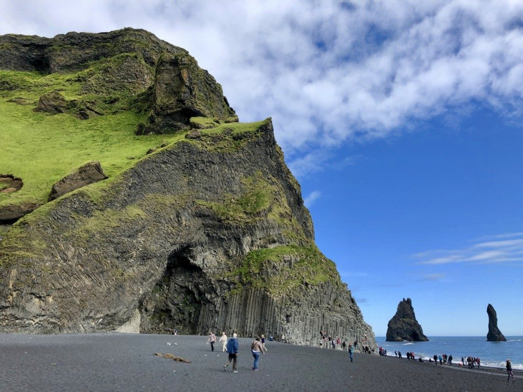 Islandia czarna plaża Reynisfjara Vík í Mýrdal