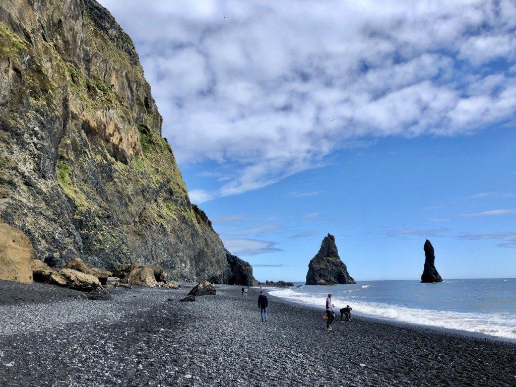 Islandia czarna plaża Reynisfjara Vik i Myrdal