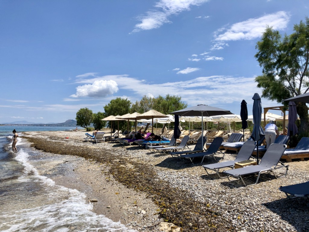 Grecja wyspa Agistri Skala Sunrise Beach Bar