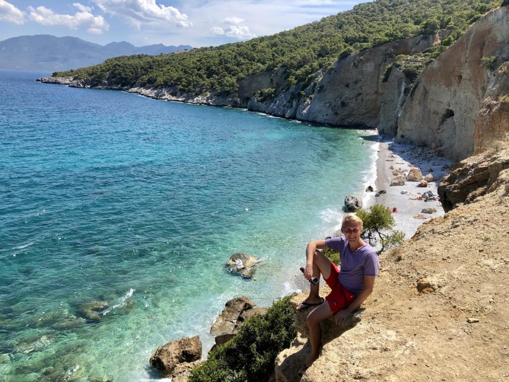 Grecja wyspa Agistri plaża Chalikiada Michał Stolarewicz