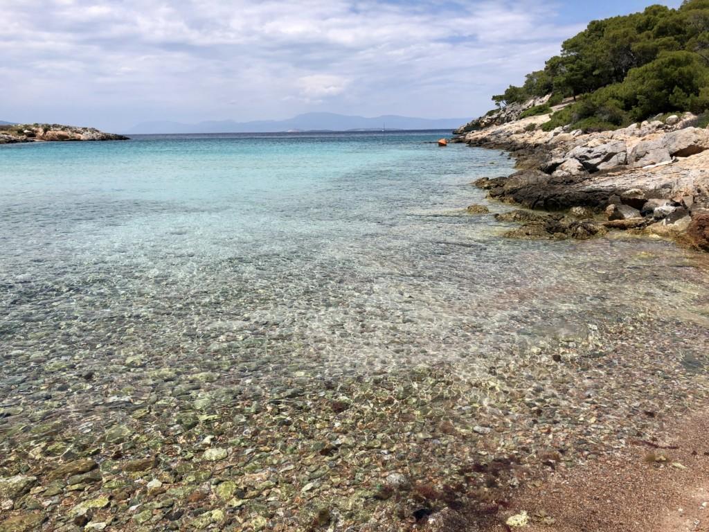 Grecja wyspa Agistri plaża Aponissos