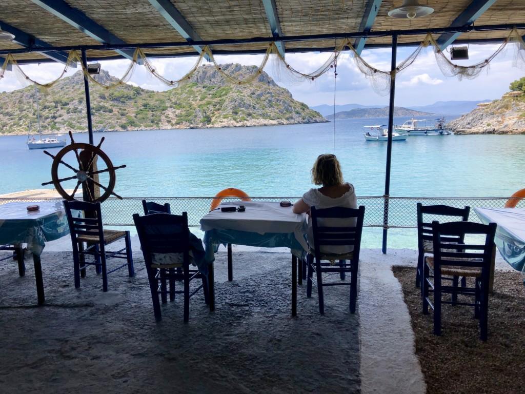 Grecja wyspa Agistri Restauracja Aponissos