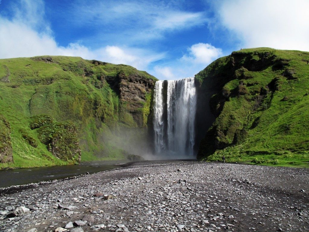 Islandia Wodospad Skogafoss