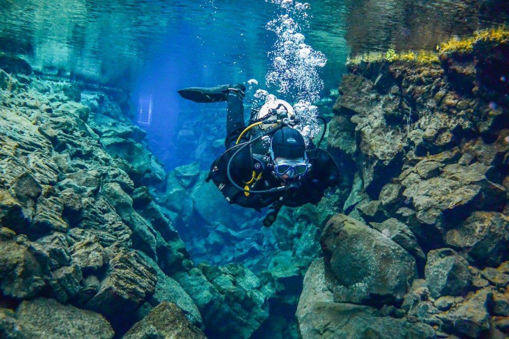 Islandia - nurkowanie ze szczeliną Silfra