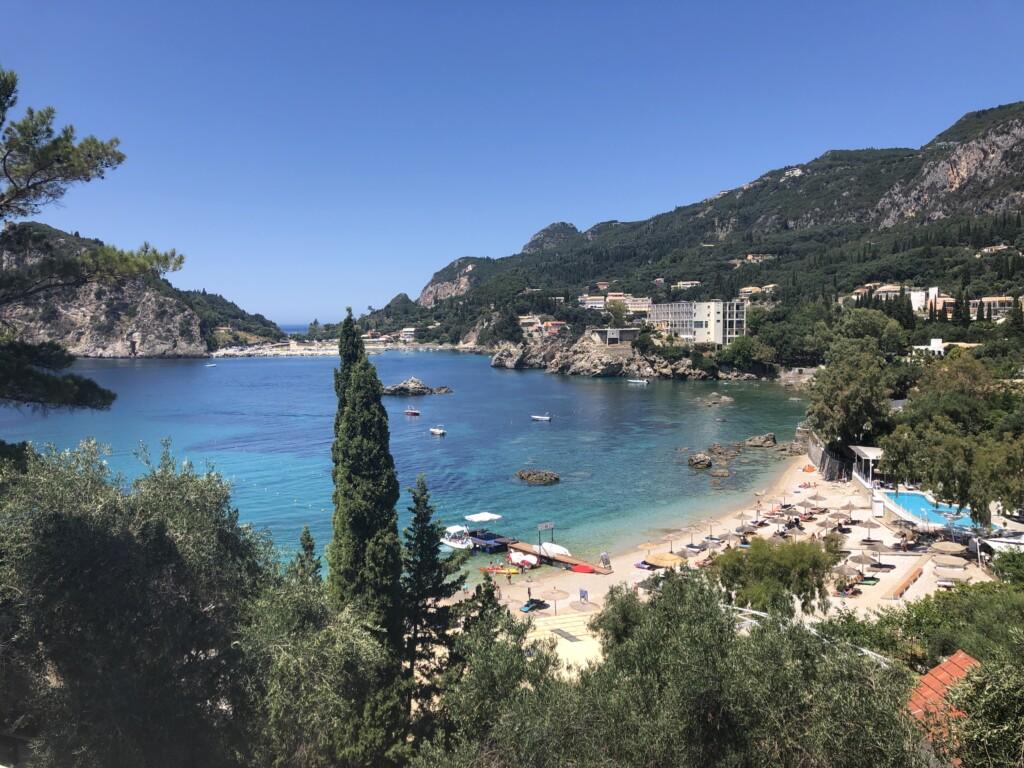 Korfu Paleokastritsa Grecja wyspa plaża