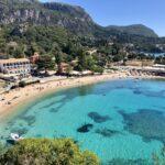 Korfu najpiękniejsza plaża – Paleokastritsa.